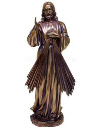 Divine Mercy Jesus Christian Bronze Statue Mystic Convergence Metaphysical Supplies Metaphysical Supplies, Pagan Jewelry, Witchcraft Supply, New Age Spiritual Store