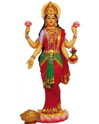 Lakshmi Hindu Goddess of Luck and Wealth Full Color Statue Mystic Convergence Metaphysical Supplies Metaphysical Supplies, Pagan Jewelry, Witchcraft Supply, New Age Spiritual Store