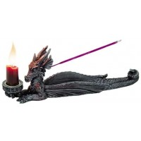 Lounging Dragon Incense Burner Candle Holder