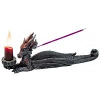 Lounging Dragon Incense Burner Candle Holder