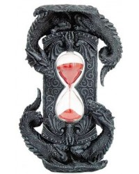 Double Dragon Gothic Sand Timer Mystic Convergence Metaphysical Supplies Metaphysical Supplies, Pagan Jewelry, Witchcraft Supply, New Age Spiritual Store