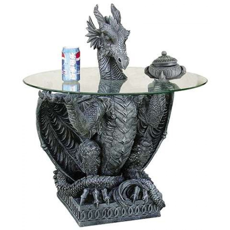 Delicieux Dragon Side Table With Glass Top At Mystic Convergence Magical Supplies,  Wiccan Supplies, Pagan