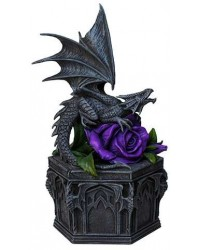 Dragon Beauty Purple Rose Trinket Box Mystic Convergence Metaphysical Supplies Metaphysical Supplies, Pagan Jewelry, Witchcraft Supply, New Age Spiritual Store