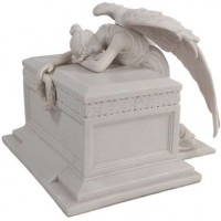Angel of Bereavement White Memorial Urn