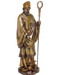 Saint Patrick Bronze Christian Statue Mystic Convergence Metaphysical Supplies Metaphysical Supplies, Pagan Jewelry, Witchcraft Supply, New Age Spiritual Store