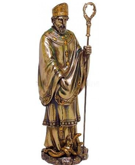 Saint Patrick Bronze Christian Statue at Mystic Convergence Metaphysical Supplies, Metaphysical Supplies, Pagan Jewelry, Witchcraft Supply, New Age Spiritual Store