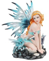 Blue Fairy with Dragonlings Statue Mystic Convergence Metaphysical Supplies Metaphysical Supplies, Pagan Jewelry, Witchcraft Supply, New Age Spiritual Store