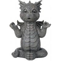 Meditating Dragon Garden Statue