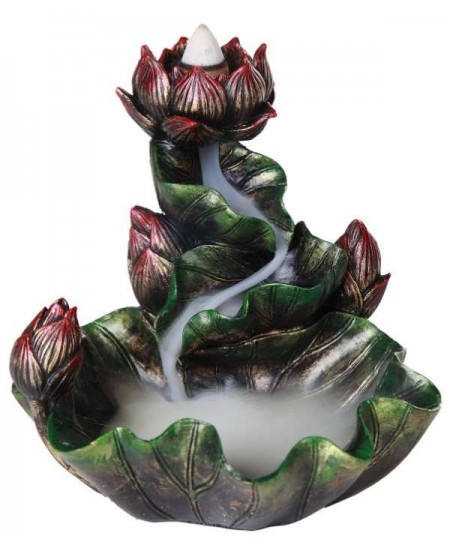 Lotus Flower Backflow Incense Burner at Mystic Convergence Metaphysical Supplies, Metaphysical Supplies, Pagan Jewelry, Witchcraft Supply, New Age Spiritual Store