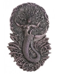 Mermaid Aine Plaque in Gray Mystic Convergence Metaphysical Supplies Metaphysical Supplies, Pagan Jewelry, Witchcraft Supply, New Age Spiritual Store