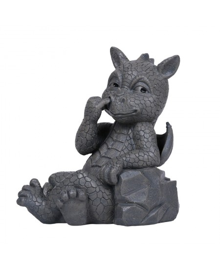 Nose Picker Dragon Garden Statue at Mystic Convergence Metaphysical Supplies, Metaphysical Supplies, Pagan Jewelry, Witchcraft Supply, New Age Spiritual Store