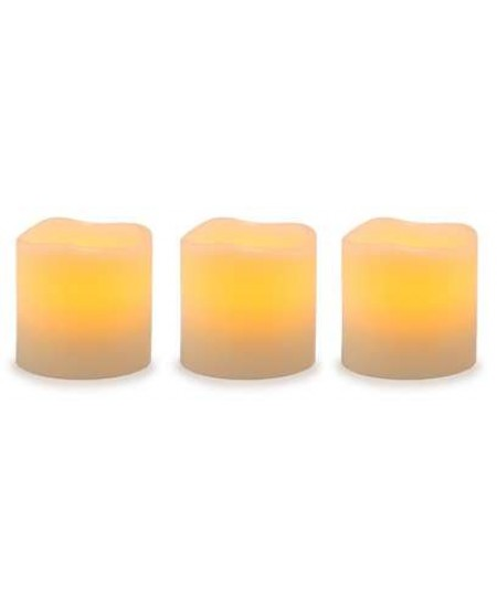 Unscented LED Pillar Candles with Timer - Set of 3 at Mystic Convergence, Wiccan Supplies, Pagan Jewelry, Witchcraft Supplies, New Age Store
