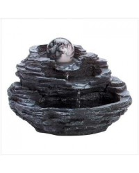 Rock Design Tabletop Fountain with Orb Mystic Convergence Metaphysical Supplies Metaphysical Supplies, Pagan Jewelry, Witchcraft Supply, New Age Spiritual Store