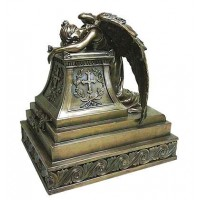 Mourning Angel Bronze Memorial Urn
