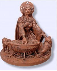 Cerridwen Cauldron 8.5 Inch Celtic Goddess Statue Mystic Convergence Metaphysical Supplies Metaphysical Supplies, Pagan Jewelry, Witchcraft Supply, New Age Spiritual Store