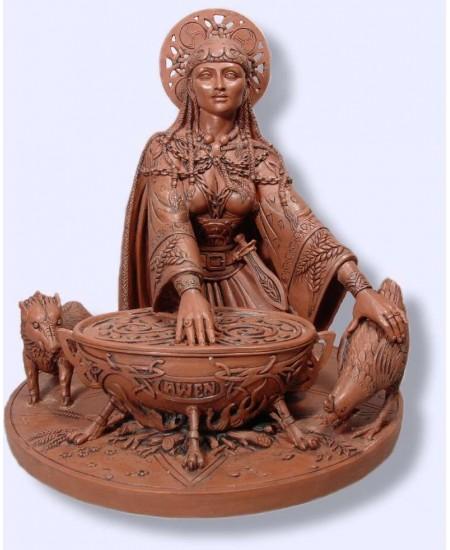 Cerridwen Cauldron 8.5 Inch Celtic Goddess Statue at Mystic Convergence Metaphysical Supplies, Metaphysical Supplies, Pagan Jewelry, Witchcraft Supply, New Age Spiritual Store