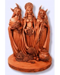 Triple Goddess Wood Resin Statue Mystic Convergence Metaphysical Supplies Metaphysical Supplies, Pagan Jewelry, Witchcraft Supply, New Age Spiritual Store