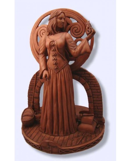 Brigit Goddess of the Hearth Candle Holder Statue at Mystic Convergence, Wicca Supplies, Pagan Jewelry, Witchcraft Supply, New Age Magick