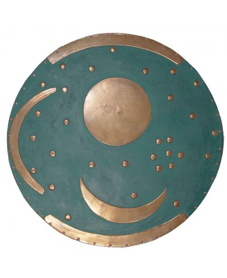 Sky Disc of Nebra Bronze Plaque at Mystic Convergence Metaphysical Supplies, Metaphysical Supplies, Pagan Jewelry, Witchcraft Supply, New Age Spiritual Store