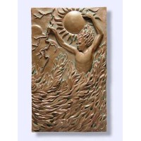 Fire Element Plaque by Ann Zeleny