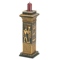 Egyptian Column Candle Holder