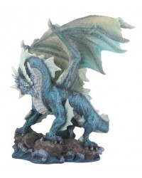 Water Dragon Blue Statue Mystic Convergence Metaphysical Supplies Metaphysical Supplies, Pagan Jewelry, Witchcraft Supply, New Age Spiritual Store