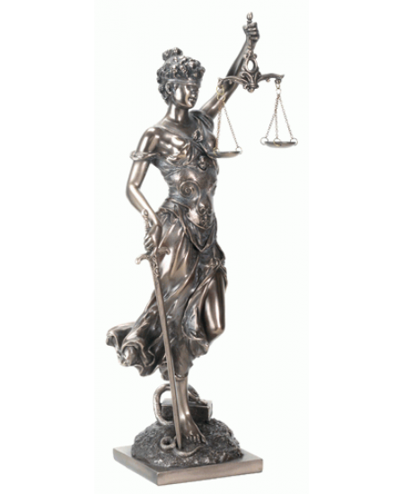 Lady Justice with Scales Bronze Statue at Mystic Convergence Metaphysical Supplies, Metaphysical Supplies, Pagan Jewelry, Witchcraft Supply, New Age Spiritual Store