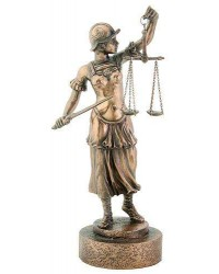 Lady Justice with Scales Warrior Bronze Statue Mystic Convergence Metaphysical Supplies Metaphysical Supplies, Pagan Jewelry, Witchcraft Supply, New Age Spiritual Store