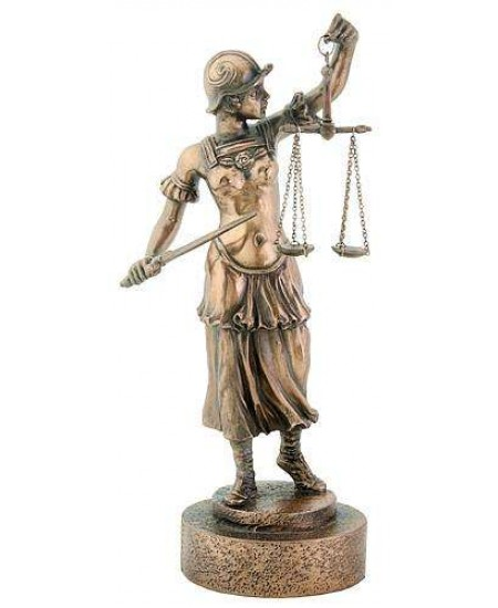 Lady Justice with Scales Warrior Bronze Statue at Mystic Convergence Metaphysical Supplies, Metaphysical Supplies, Pagan Jewelry, Witchcraft Supply, New Age Spiritual Store