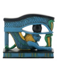 Lion Wedjat Eye of Horus Statue Mystic Convergence Metaphysical Supplies Metaphysical Supplies, Pagan Jewelry, Witchcraft Supply, New Age Spiritual Store