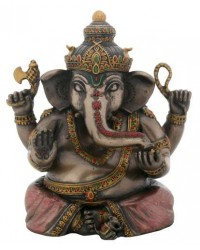 Sitting Ganesha Bronze Resin Statue Mystic Convergence Metaphysical Supplies Metaphysical Supplies, Pagan Jewelry, Witchcraft Supply, New Age Spiritual Store