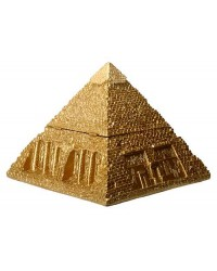Pyramid Egyptian Golden 5 1/2 Inch Box Mystic Convergence Metaphysical Supplies Metaphysical Supplies, Pagan Jewelry, Witchcraft Supply, New Age Spiritual Store