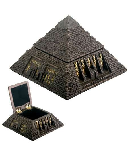 Pyramid Egyptian Bronze Finish 2 3/4 Inch Box at Mystic Convergence Metaphysical Supplies, Metaphysical Supplies, Pagan Jewelry, Witchcraft Supply, New Age Spiritual Store