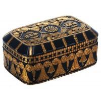 Scarab and Lotus Egyptian Revival Trinket Box