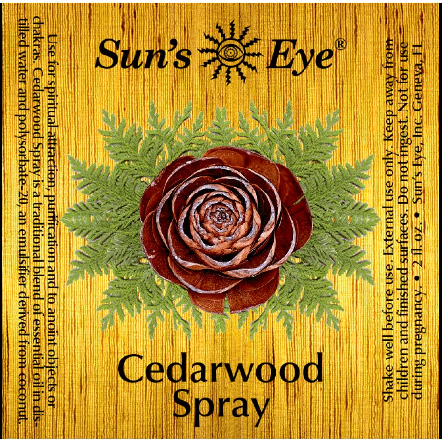 Cedarwood Spray Mist - Spray Incense, Purification, Magic, Spells