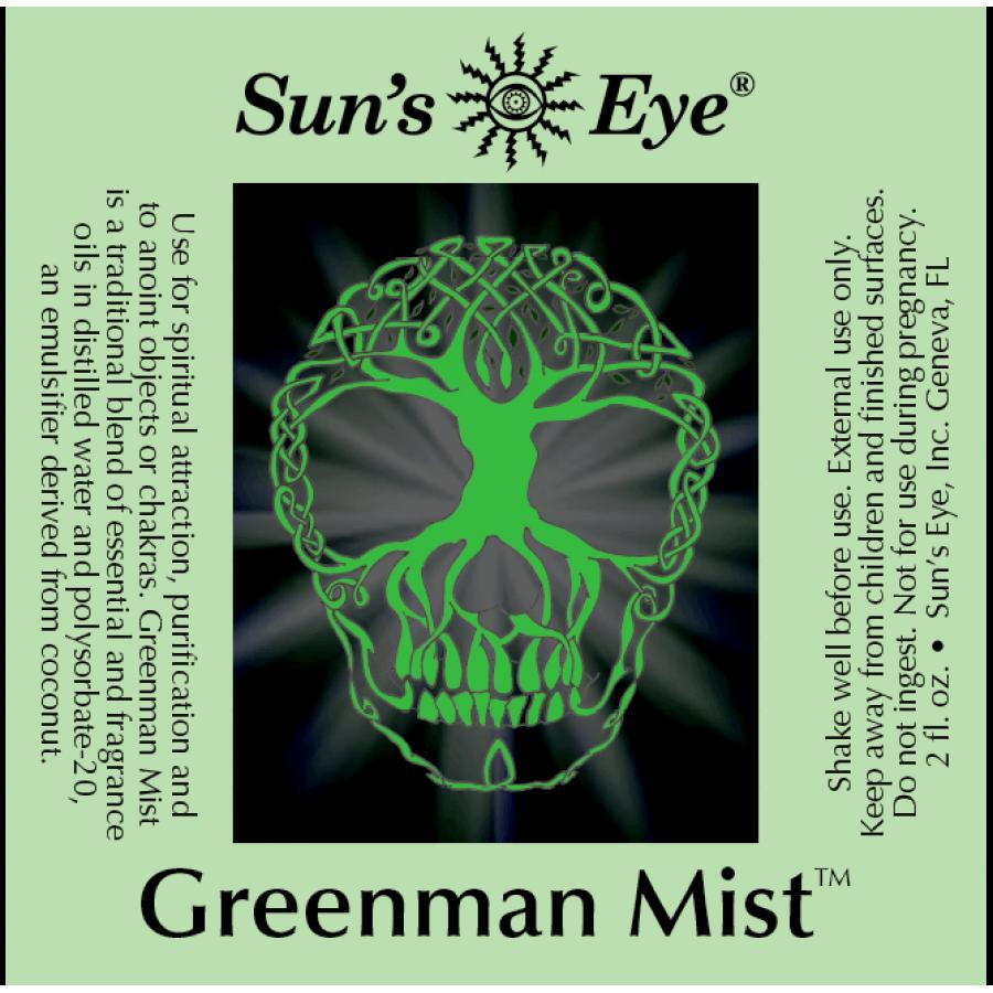 Greenman Spray Mist - Spray Incense, Purification, Magic, Spells
