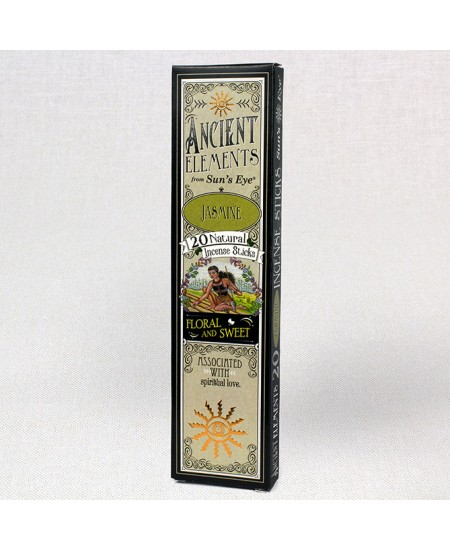 Jasmine Ancient Elements Incense Sticks at Mystic Convergence Metaphysical Supplies, Metaphysical Supplies, Pagan Jewelry, Witchcraft Supply, New Age Spiritual Store