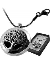 Tree of Life Aromatherapy Locket Necklace Mystic Convergence Metaphysical Supplies Metaphysical Supplies, Pagan Jewelry, Witchcraft Supply, New Age Spiritual Store