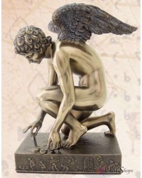 Cupid with Butterfly Chaudet Bronze Statue Mystic Convergence Metaphysical Supplies Metaphysical Supplies, Pagan Jewelry, Witchcraft Supply, New Age Spiritual Store