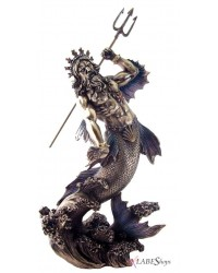 Poseidon Lord of the Sea Bronze Statue Mystic Convergence Metaphysical Supplies Metaphysical Supplies, Pagan Jewelry, Witchcraft Supply, New Age Spiritual Store