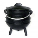 Cast Iron Mini Potjie Cauldron - 5 Oz at Mystic Convergence Metaphysical Supplies, Metaphysical Supplies, Pagan Jewelry, Witchcraft Supply, New Age Spiritual Store