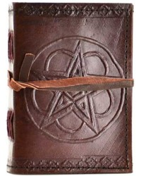 Pentagram Leather Pocket Size Journal Mystic Convergence Metaphysical Supplies Metaphysical Supplies, Pagan Jewelry, Witchcraft Supply, New Age Spiritual Store