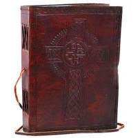 Celtic Cross Leather Blank 7 Inches Journal with Cord
