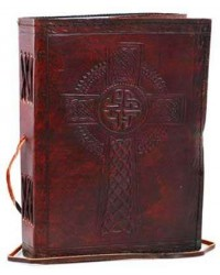 Celtic Cross Leather Blank 8 Inches Journal with Cord Mystic Convergence Metaphysical Supplies Metaphysical Supplies, Pagan Jewelry, Witchcraft Supply, New Age Spiritual Store