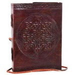 Celtic Knotwork Leather Blank 7 Inches Journal with Cord at Mystic Convergence, Wiccan Supplies, Pagan Jewelry, Witchcraft Supplies, New Age Store