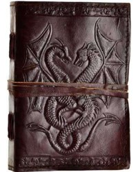 Double Dragon Leather Journal Mystic Convergence Metaphysical Supplies Metaphysical Supplies, Pagan Jewelry, Witchcraft Supply, New Age Spiritual Store