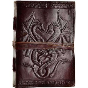 Double Dragon Leather Journal Mystic Convergence Wicca Supplies, Pagan Jewelry, Witchcraft Supply, New Age Magick