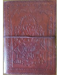 Ganesh Embossed Leather 7 Inch Journal Mystic Convergence Metaphysical Supplies Metaphysical Supplies, Pagan Jewelry, Witchcraft Supply, New Age Spiritual Store