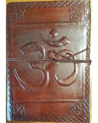 Om Embossed Leather 7 Inch Journal Mystic Convergence Metaphysical Supplies Metaphysical Supplies, Pagan Jewelry, Witchcraft Supply, New Age Spiritual Store