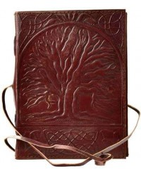Sacred Oak Tree of Life Leather Journal with Cord Mystic Convergence Wiccan Supplies, Pagan Jewelry, Witchcraft Supplies, New Age Store